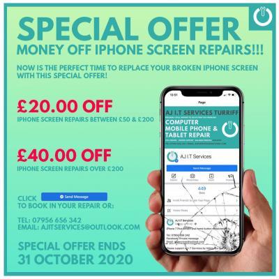MONEY OFF IPHONE SCREEN REPAIRS!!!